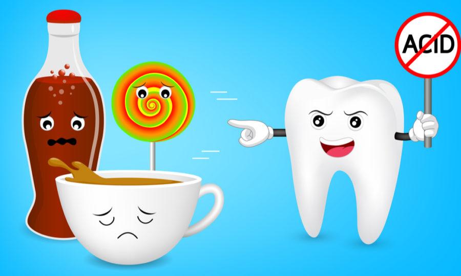 משקאות חומציים שיניים